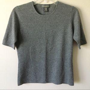 NWT {Banana Republic} 100% Cashmere Top Gray Small
